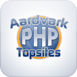 Aardvark Topsites PHP is a free topsites script built on PHP and MySQL. A topsites list ranks a group of related sites by popularity. Webmasters join the topsites list and are given a button to put on their site and link back to the topsites list.
